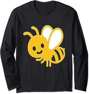 Emoji Buzzing Bee Honey Yellow Bumblebee Emoticon Texting Long Sleeve T-Shirt
