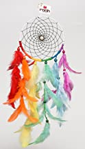 Rooh Dream Catcher ~Rainbow Waterfall ~ Handmade Hangings for Positivity (Can be used as Home Décor Accents, Wall Hangings, Garden, Car, Outdoor, Bedroom, Key chain, Meditation Room, Yoga Temple, Windchime)