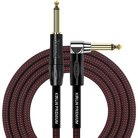KIRLIN Cable de instrumento de ángulo recto a recto, BR, 10 feet