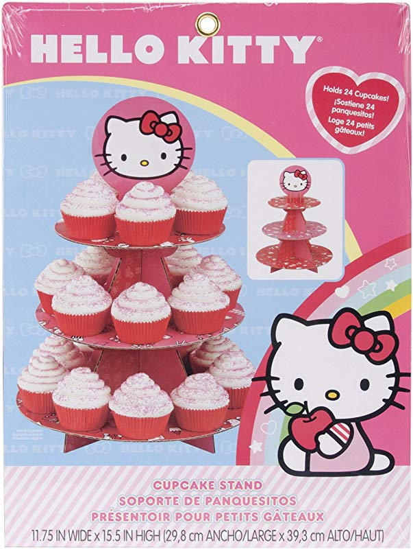 Wilton Hello Kitty Paper Cupcake Stand Holds 24 Cupcakes