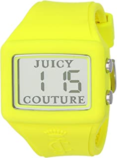 """Juicy Couture Women's 1900989""""Chrissy"""" Rubber Watch with Yellow Band"""