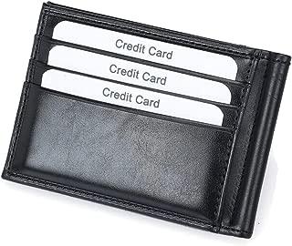 RFiD Blocking Leather Bifold Money Clip Wallet