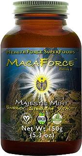 HealthForce Macaforce Majestic Mint - 150g Maca Powder - Organic Plant Protein - Adaptogen, Superfood Powder - Adrenal and...