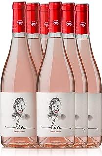 PRADOREY Lia - Vino rosado - 100% Tempranillo - Ribera del Duero - Vino natural de corta maceración con un punto de dulzor - 6 BotellaS - 0,75 L