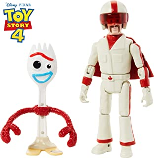 Disney Pixar Toy Story Forky & Duke Caboom Figures, 4.3