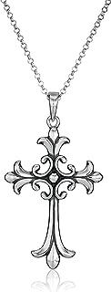 Best large silver celtic cross pendant Reviews
