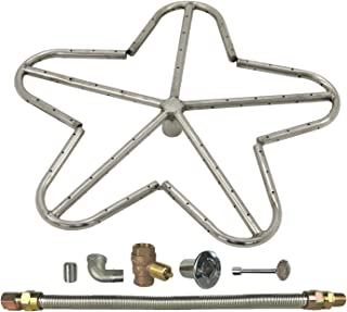 Spotix HPC Penta Fire Pit Burner Kit (FPS-PENTA18KIT-NG-MSCB), 18-Inch Burner, Match Light, Natural Gas