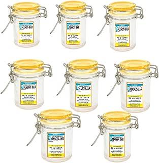 Mini Mason Jar 1.5 Ounce - Prescription Rx Pill Bottle Novelty Glass Container (8)