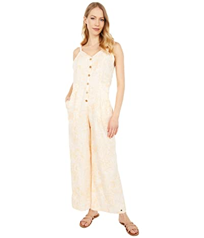 Roxy Soft Landing Ankle Length Strappy Jumpsuit (Apricot Ice Middle Jungle) Women
