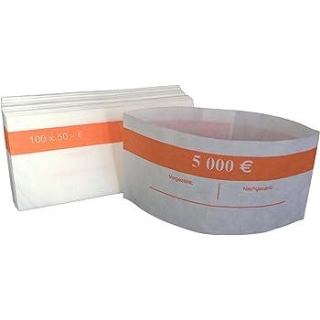 100 St/ück 100 Euro Scheine gr/ün f/ür Euro Noten Geldbanderole f/ür Euro Geldscheine Eurobanderole f/ür Euro Banknote Banderolen