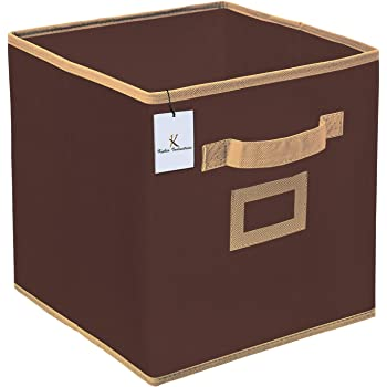 Kuber Industries Non Woven Small Foldable Storage Organiser Cubes/Boxes (Coffee) - CTKTC35135