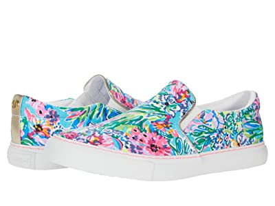 Lilly Pulitzer Julie Sneaker (Amalfi Blue Alligator Isle Accessories Small) Women