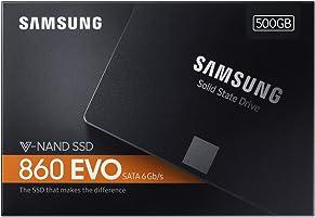 "Samsung 860 EVO 2.5"" SATA3 Solid State Disk, 500GB"