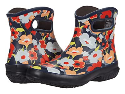 Bogs Patch Ankle Boot Deco Poppy (Navy Multi) Women