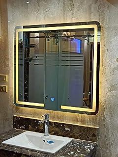 مراية حمام- اضائة ليد - تعمل باللمس- 80 - 80سم
