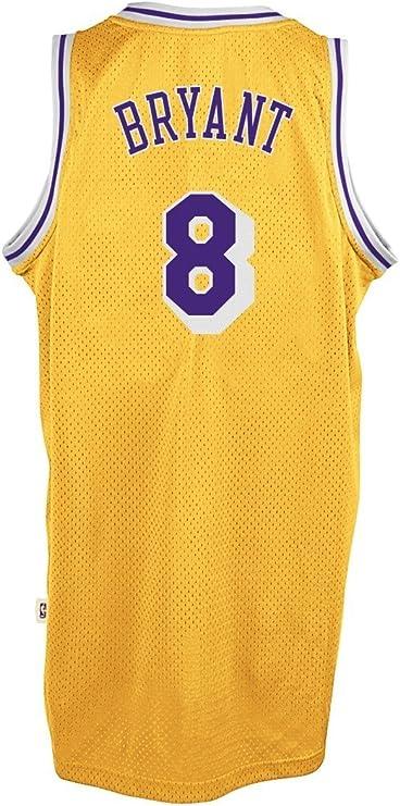 Amazon.com : adidas Kobe Bryant Los Angeles Lakers Gold Throwback ...
