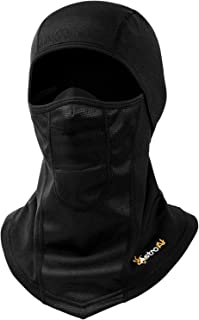 AstroAI Ski Mask Windproof Balaclava for Cold Weather, Winter Face Mask Breathable Stretchable for Skiing, Snowboarding & Motorcycle Riding, Full Protection Black Mask for Men Women