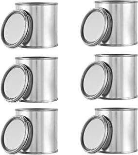 Compatible Empty Metal Paint Cans with Lids (6 Cans and 6 Lids) 1/4 Pint Size