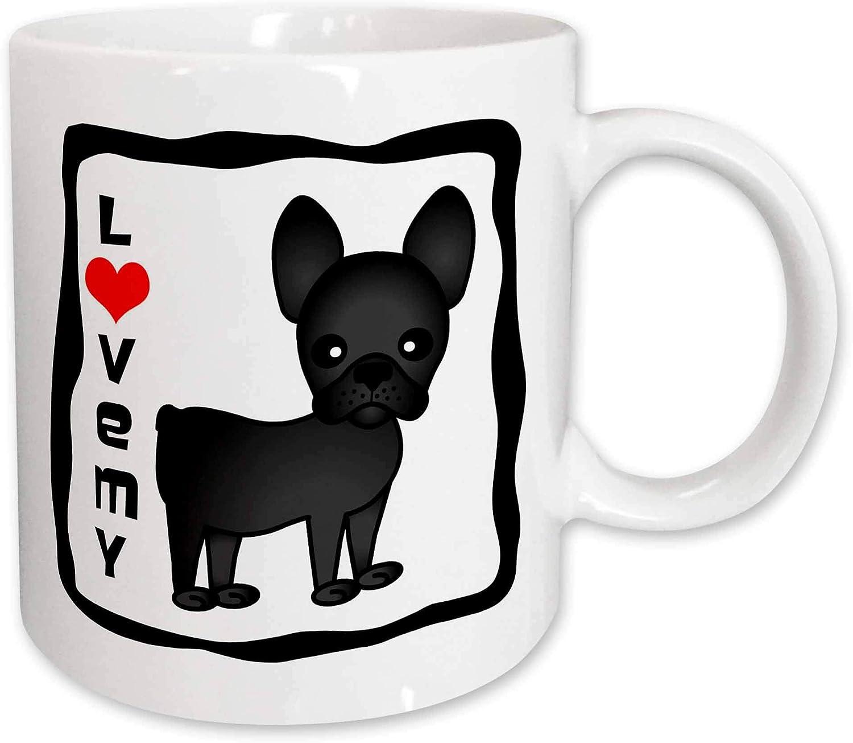3drose I Love My French Bulldog Black Brindle Mug 11 Ounce Kitchen Dining