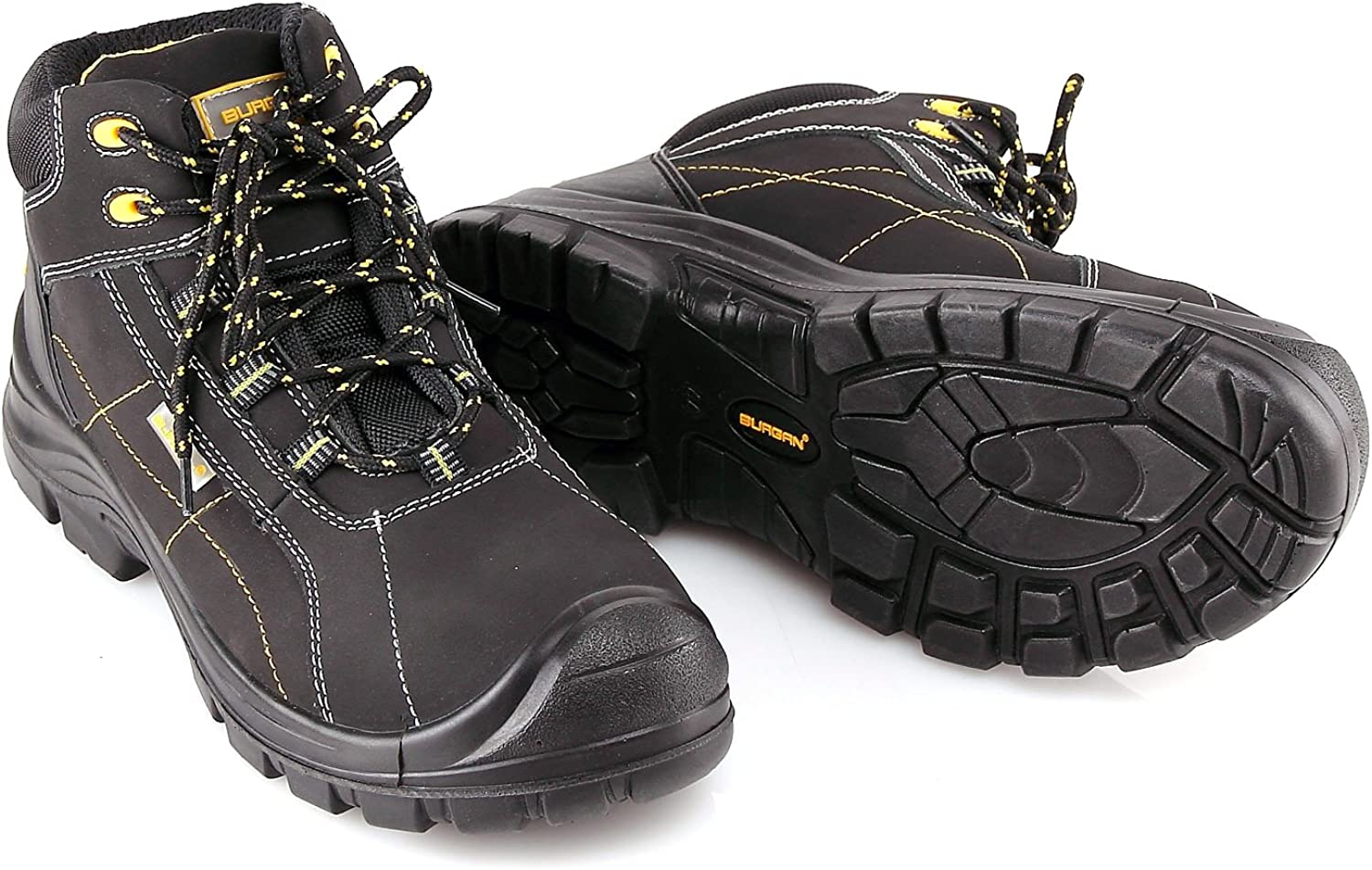 BURGAN 290 Safety Work Boot with Composite Anti-Penetration Midsole and Toe - Sport Casual Inspired Design for Men and Women