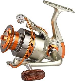 Wenzi-day 500 9000 Series Metal Superior Spinning Fishing Reel Ratio 5.2:1 12Bb Wood Handle