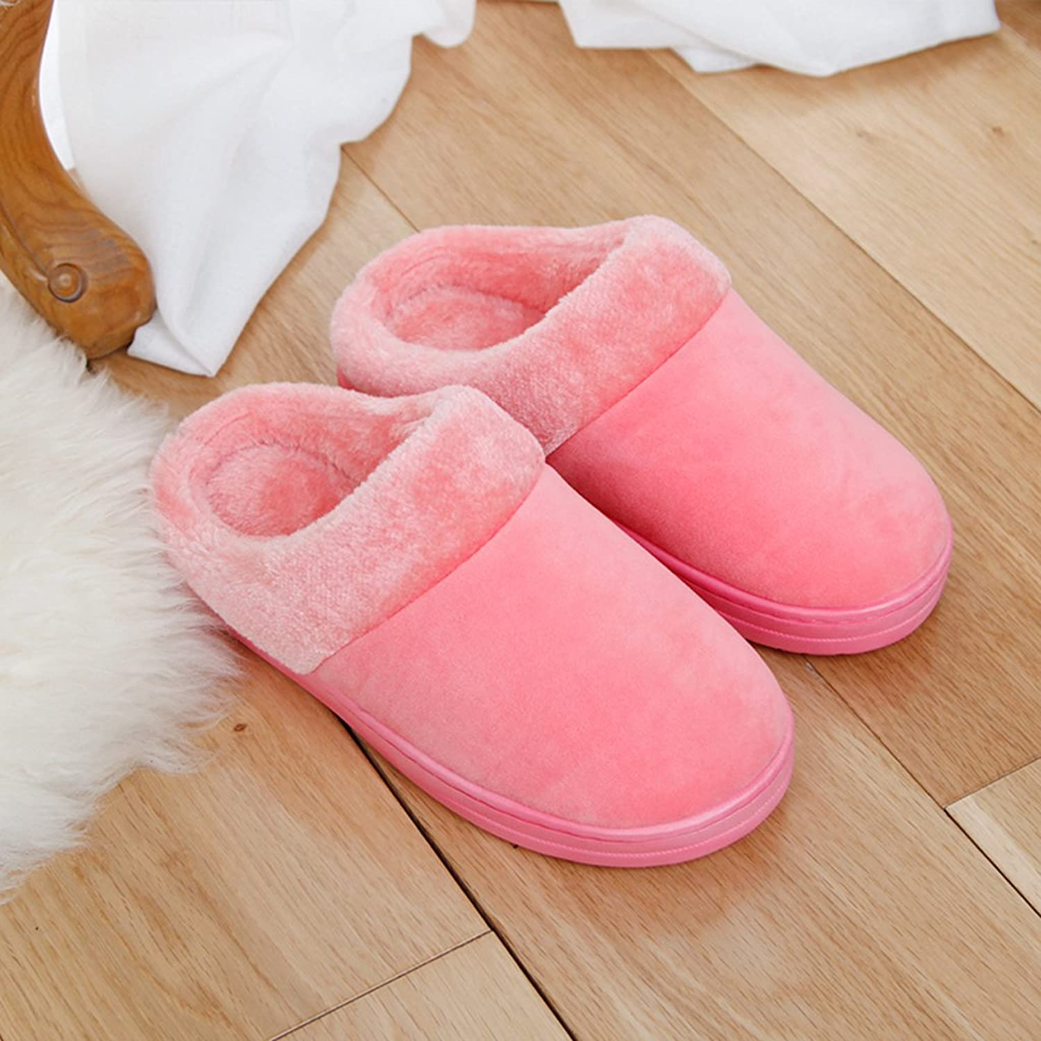 HYLRUS Autumn Winter Indoor Keep Warm Cotton Slippers Comfortable Stylish Couple Men and Women Home Slippers