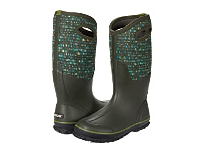 Bogs Classic Tall Twinkle (Dark Green Multi) Women