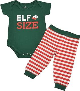 Unique Baby Unisex 1st Christmas Onesie Outfit Elf Size Layette Set