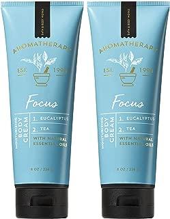 Bath and Body Works 2 Pack Aromatherapy Focus Eucalyptus & Tea Body Cream. 8 Oz.