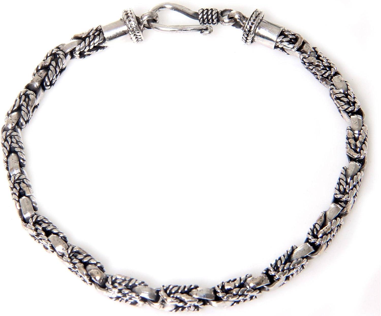 NOVICA Bombing free shipping .925 Sterling Silver Miami Mall Bracelet 7.5