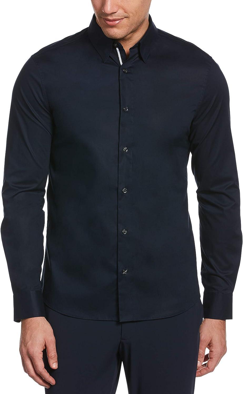 Perry Ellis Men's Untucked Slim Solid Fit Shirt Department store El Paso Mall