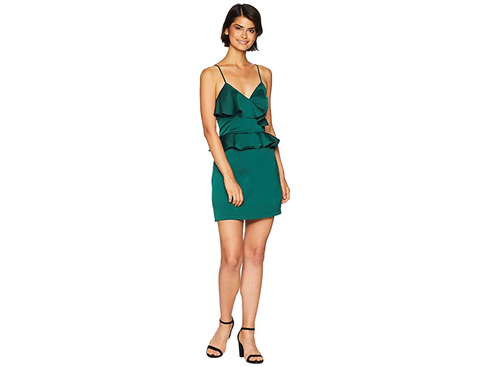 J.O.A. Asymmetrical Dress (Pine Green) Women