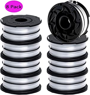 DF-065 Replacement Spool Compatible with Black and Decker GH710 GH700 GH750 String Trimmer, 36ft 0.065 inch Auto-Feed Dual Line Edger Parts 90517175 DF-065-BKP (8 Pack) by TOPEMAI