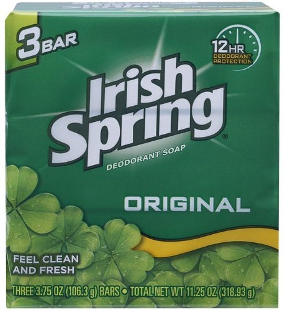 同化するストライド管理するIrish Spring デオドラント石鹸、オリジナル、3.75オズバー、3 Eaは(12パック)