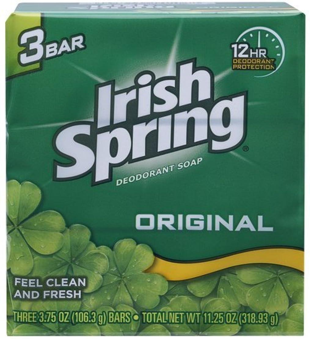 不当紳士気取りの、きざな見えないIrish Spring デオドラント石鹸、オリジナル、3.75オズバー、3 Eaは(12パック)