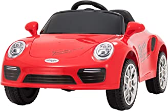 Uenjoy Kids Electric Ride on Cars 6v Battery Power Motorized Vehicles, Remote Control, Suspension, Music, Headlights, Horn, Red