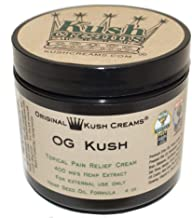 Kush Creams - OG Kush - Emu Oil & Hemp Oil Infused w/ 30+ Herbal Ingredients - Topical Pain Relief Cream with Aromatherapy - Award Winning - Doctor Recommended - Lab Tested - 4 oz Jar
