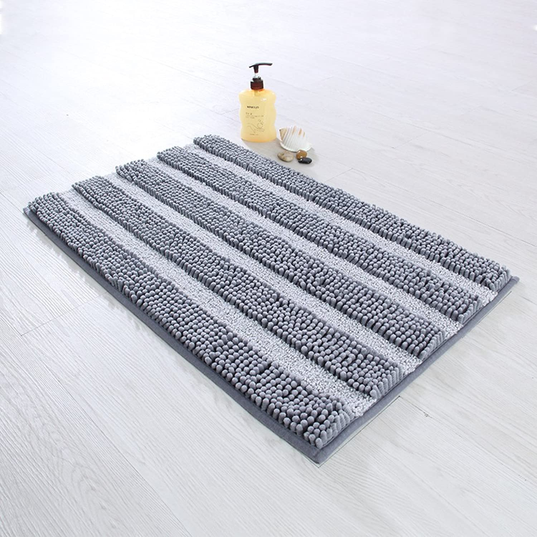Chenille mat Bathroom Non-Slip mats Water-Absorption Door mat Fur Padded mats-K 40x60cm(16x24inch)