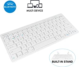 Macally Compact Wireless Bluetooth Keyboard - Features a Built-in Stand & Multi-Device Sync - Compatible with Apple Mac, iMac, MacBook Pro/Air, iPhone, iPad, Windows PC Computer Laptop, Android, etc.