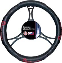 "Officially Licensed NCAA Oklahoma Sooners Steering Wheel Cover, 14.5""-15.5"", Black"