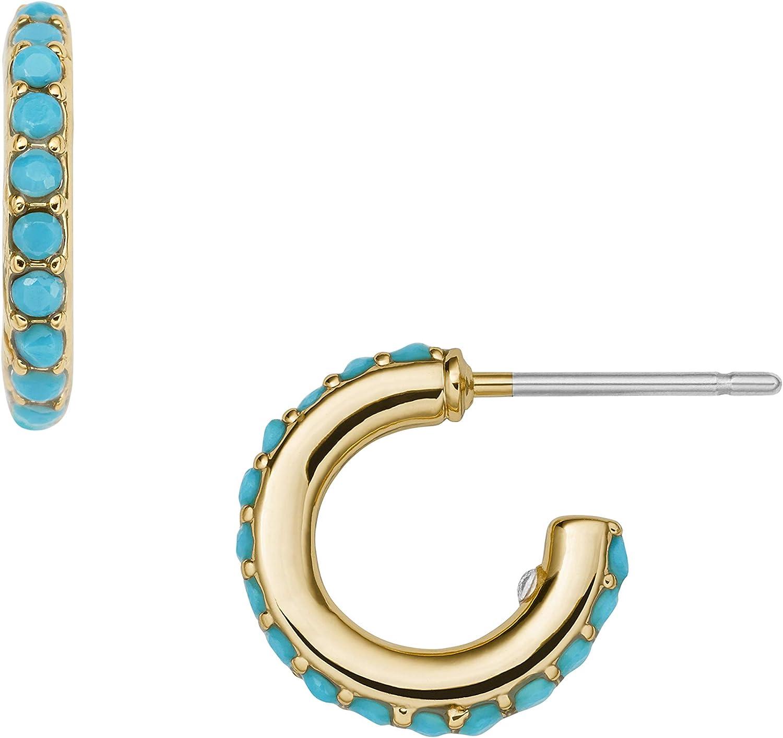 Fossil Women's Gold-Tone Stainless Steel Drop or Hoop Earrings
