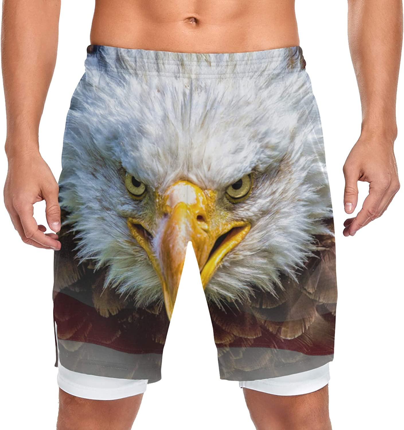 Running Shorts American Bald Max 48% OFF Eagle Men Sh Max 86% OFF Training Workout Sport