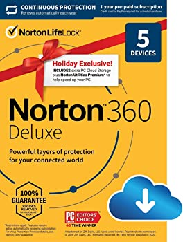 Norton 360 Deluxe 2021 Antivirus Software for 5 Devices