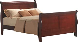 acme 19520Q Louis Philippe III Queen Bed, Cherry Finish