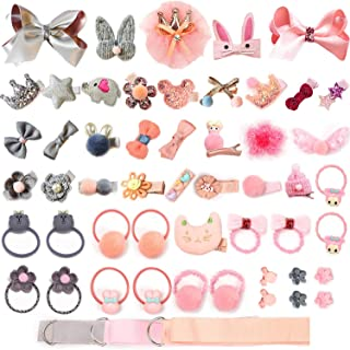 Baby Girls Cute Hair Bows Clips Fully Lined Baby Elastic Hair Ties for Baby Girls Infants Toddlers Kids Fine Hair Accessor...