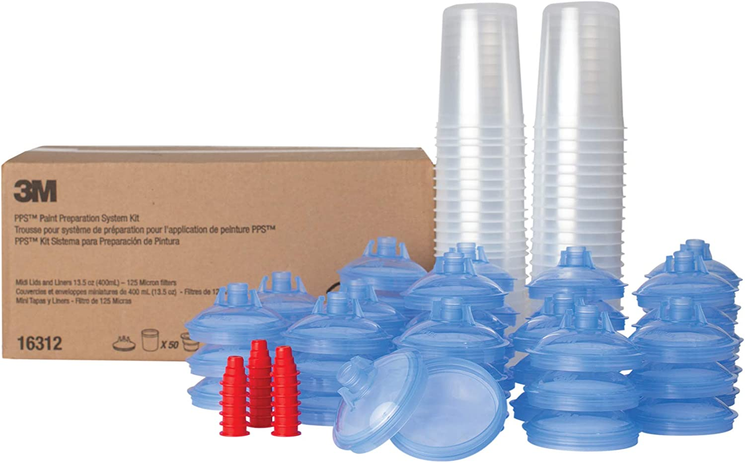 3M PPS Our shop OFFers the Max 57% OFF best service Original Series Paint Spray Liners Kit Lids Gun and Cup