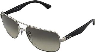 Men's Rb3483 Square Metal Sunglasses
