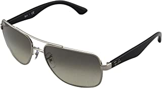 Men's RB3483 Square Metal Sunglasses