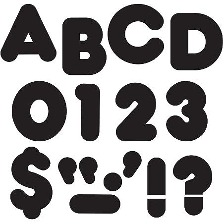 "TREND enterprises, Inc. Black 4"" Casual Uppercase Ready Letters"