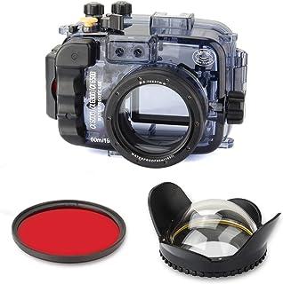 Sea frogs 60m / 195ft 水中カメラハウジングケースは for Sony A6000 A6300 A6500 16-50 ミリメートル レンズで使用できます+67mm魚眼レンズ - ラウンド+レッドフィルター67mm 並行輸入品